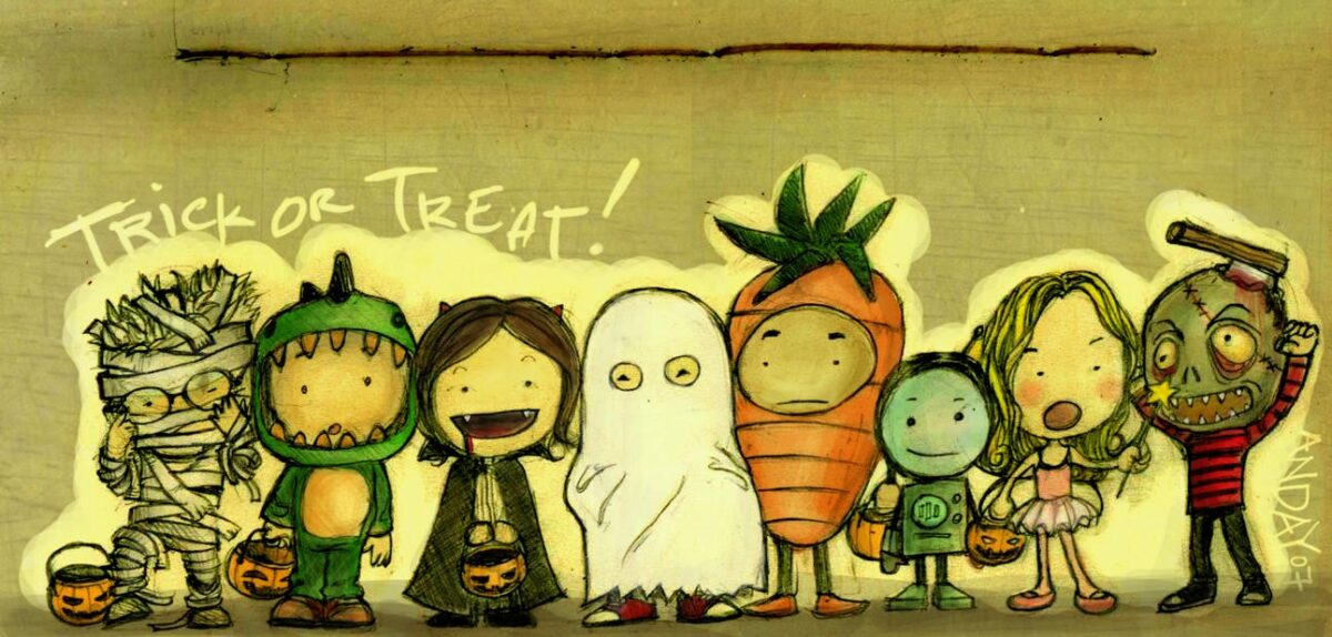 Trick or Treat in the social hall